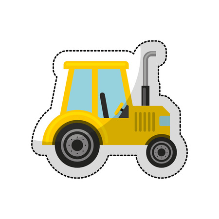 tractor trailer: tractor farm vehicle isolated icon vector illustration design