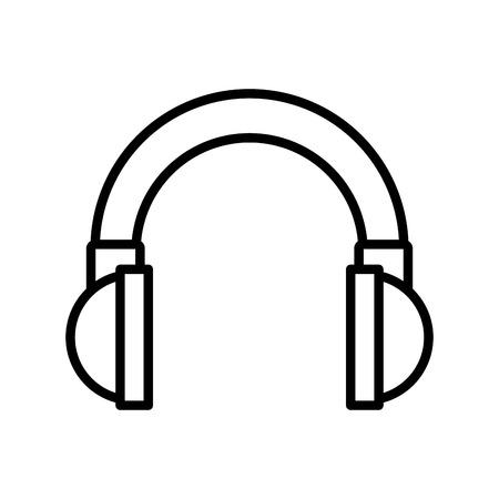 portable audio: headset audio device isolated icon vector illustration design