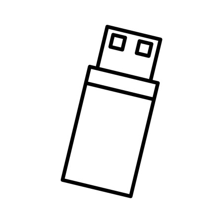 usb memory: usb memory isolated icon vector illustration design