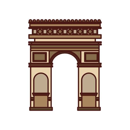 triumphal: triumph arch france isolated icon vector illustration design