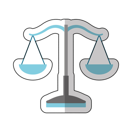 equilibrium: balance justice isolated icon vector illustration design