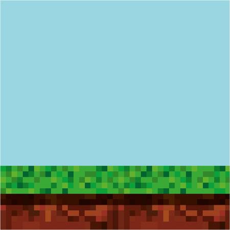spelscène pixelated achtergrond vectorillustratieontwerp Stock Illustratie