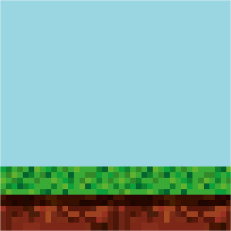 game scene pixelated background vector illustration design