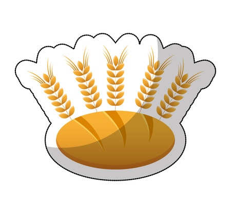loaf: delicious bread with spikes isolated icon vector illustration design Illustration