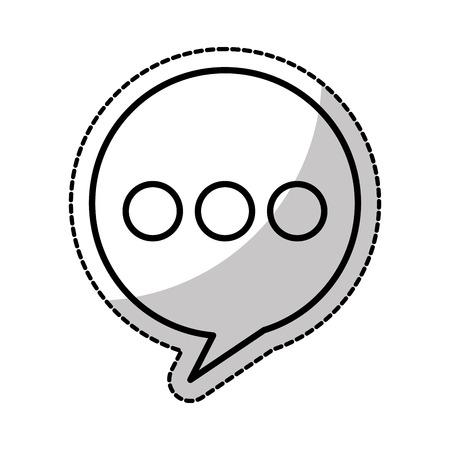 speech buble: speech buble isolated icon vector illustration design Illustration