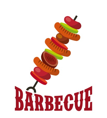 sweker with grilled food icon over white background. barbecue grill concept. colorful design. vector illustration