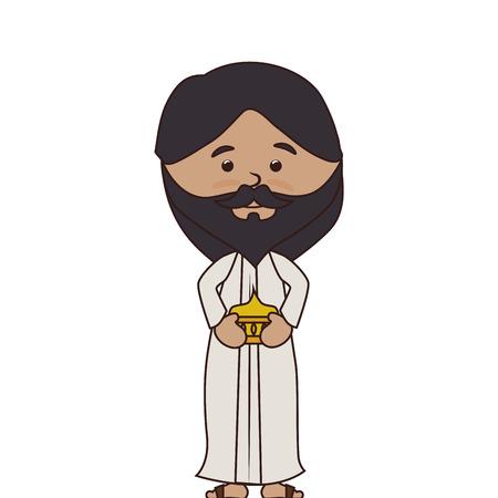 nativety: man manger character isolated icon vector illustration design