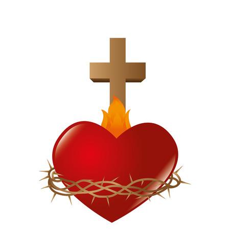 sacred Heart of Jesus vector illustration design