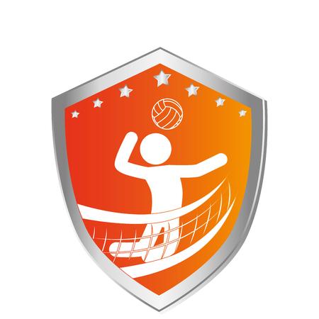 volley: volleyball sport emblem icon vector illustration design Illustration