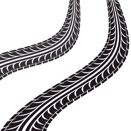 tire tracks: tire tracks isolated icon vector illustration design