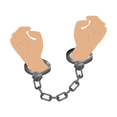 detention: handcuffs police isolated icon vector illustration design