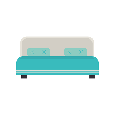 hotel bed: hotel bed isolated icon vector illustration design