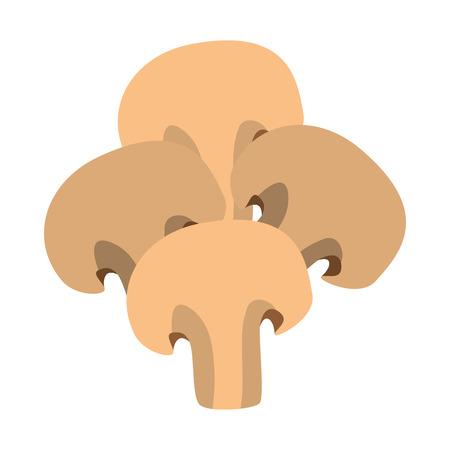 champignon: mushroom ingredient isolated icon vector illustration design Illustration