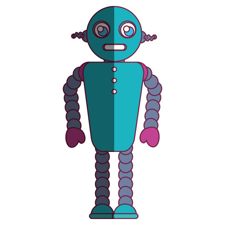 robot character isolated icon vector illustration design Illustration