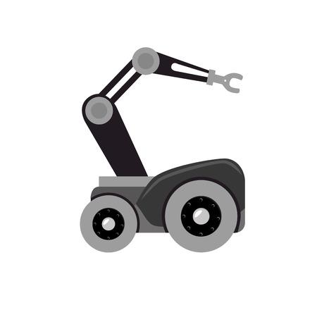 auto del robot con la mano idraulico illustrazione vettoriale progettazione