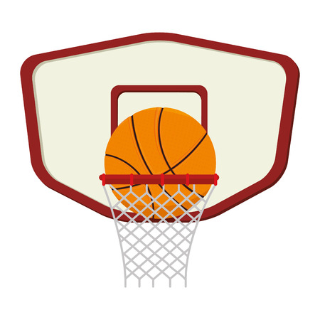 competitions: basketball sport emblem icon vector illustration design