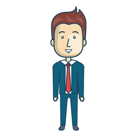 estereotipo: empresario carácter avatar ilustración vectorial aislado diseño