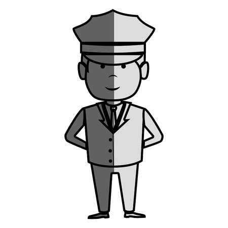 driver hotel service isolated icon vector illustration design