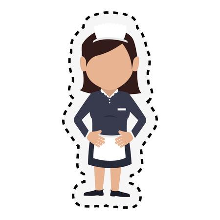hotel staff: room service character hotel service vector illustration design