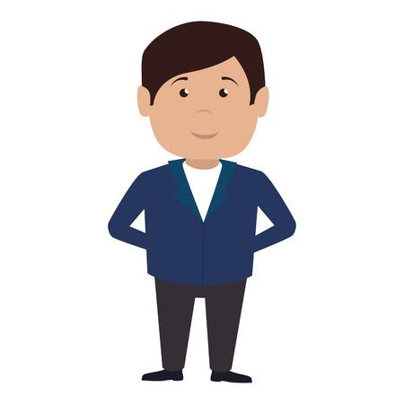 hotel receptionist character icon vector illustration design Illustration