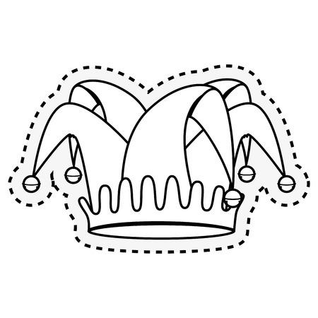 fools hat isolated icon vector illustration design 向量圖像