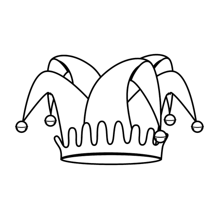 fools hat isolated icon vector illustration design