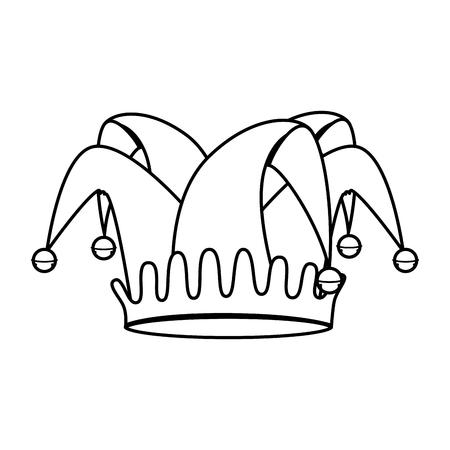 Narren Hut isoliert Symbol Vektor-Illustration, Design,