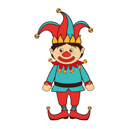 buffoon: jester comic character isolated icon vector illustration design