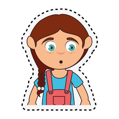 whistling: Cute girl whistling character vector illustration design Illustration