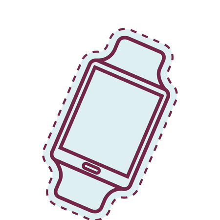 smartwach gadget isolated icon vector illustration design Illustration