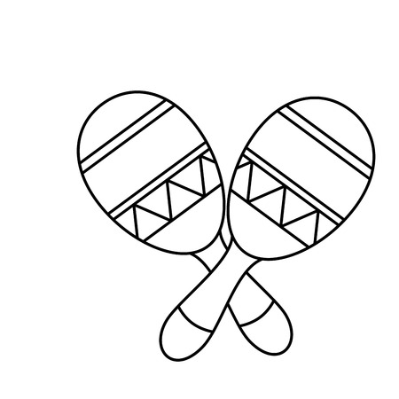maraca: mexican maraca instrument icon vector illustration design