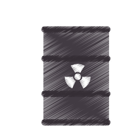 radioactive tank and warning sign: nuclear tank isolated icon vector illustration design