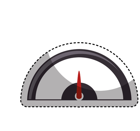 gas meter: pressure gauge isolated icon vector illustration design Illustration