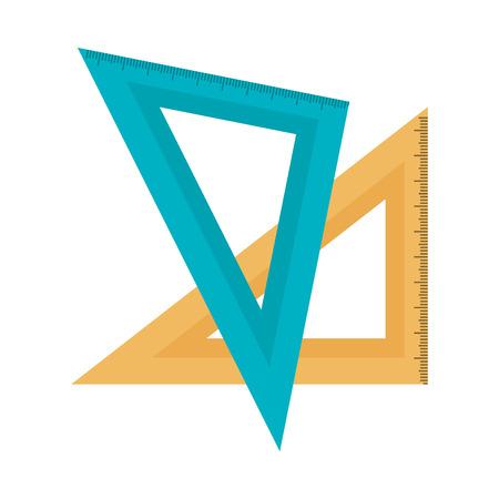 rule school supply icon vector illustration design Illustration