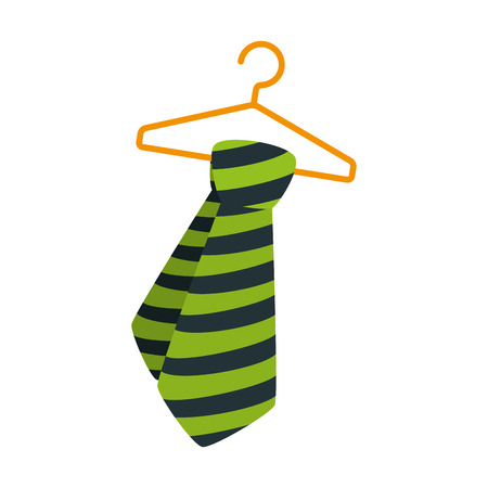 tie male fashion hanging in hook icon vector illustration design