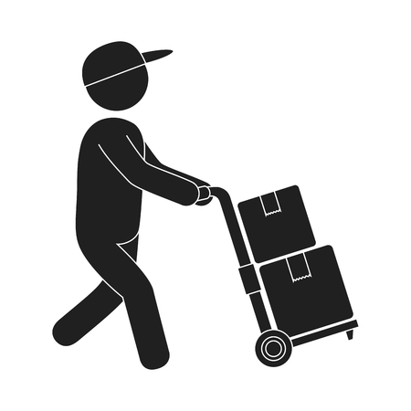 delivery service worker avatar vector illustration design