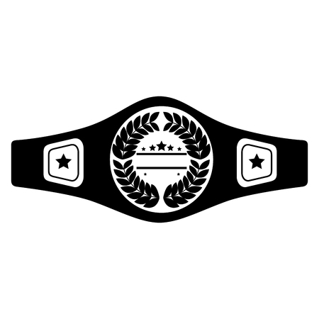 boxing belt isolated icon vector illustration design