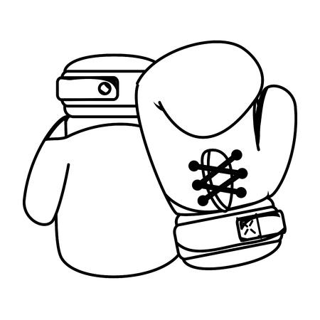 boxing gloves equipment icon vector illustration design Illustration