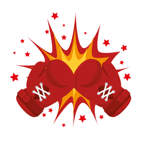 boxing gloves equipment icon vector illustration design Illustration