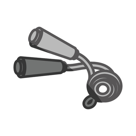 skip: rope jump equipment icon vector illustration design