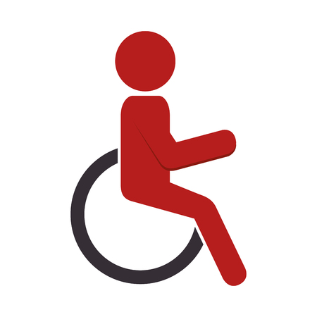 silhouette person in wheelchair vector illustration design