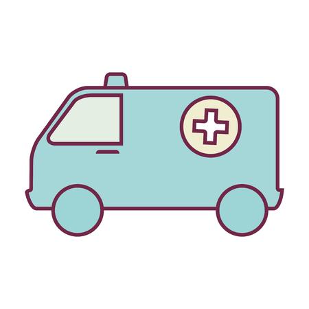 emergency vehicle: ambulance emergency vehicle icon vector illustration design Illustration