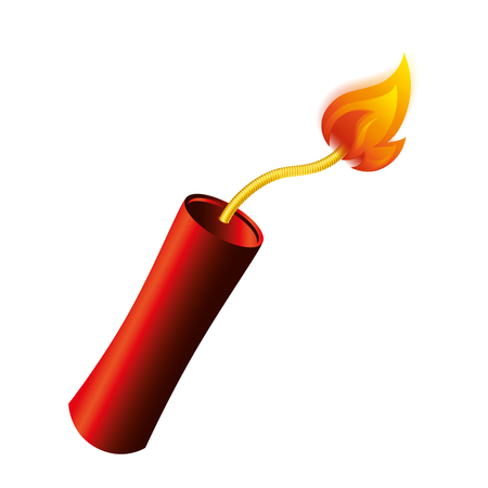 dynamite stick isolated icon vector illustration design