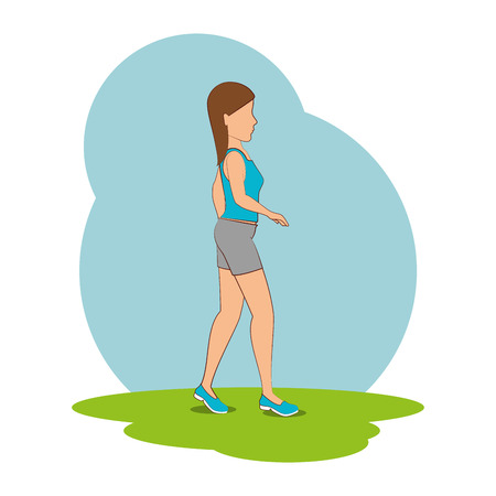 people walking isolated icon vector illustration design