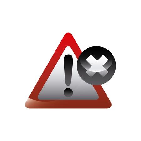 signe d'alerte et de mauvaise icône sur fond blanc. conception colroful. illustration vectorielle Illustration