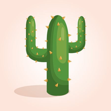 mexican cactus character icon vector illustration design Illustration