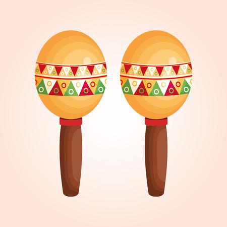 maracas: mexican maracas isolated icon vector illustration design