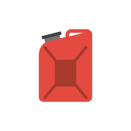 steel drum: red gallon icon over white background. colorful design. vector illustration Illustration