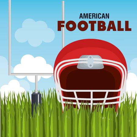 american football league icon vector illustration design Illustration
