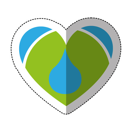 heart with blood drop icon vector illustration design